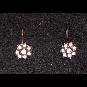Vintage Crystal Flower Earrings!